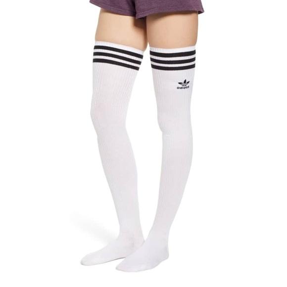 2a12ab77d NWT ADIDAS White Thigh High Sexy Knee Socks